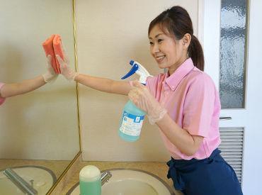 クリニックでのお仕事★ 簡単なところから少しずつ! 慣れるまで先輩がしっかりサポートするので、 初めての清掃業務でも安心◎