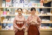 """日本橋老舗の商品を数多く取り扱っています!休憩からお買い物まで、楽しめるお店です♪""""浴衣""""や""""着物""""の着付けも学べます!"""