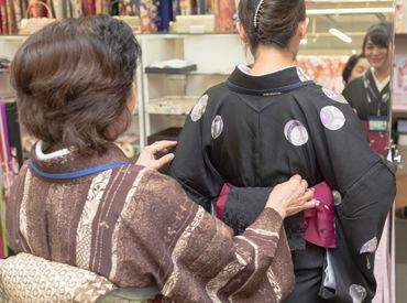 「より着付けのスキルを磨きたい」 「着物に関わる仕事がしたい」 など、応募理由は何でもOK! お気軽にご応募ください◎