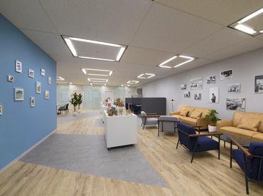 こちらは本社オフィスの写真です!ビル27階なので、景色も良くてキレイと評判♪ マスク着用OK、アルコール消毒完備◎