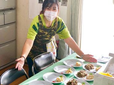 \未経験さんもWelcome♪/ ご利用者様9名分のお食事を 作っていただきます◎ 献立もレシピも決まってるのでラクラク!