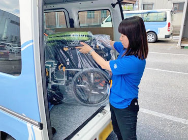 \女性スタッフ活躍中!/ 車椅子や歩行器など、福祉に関する用具を点検&お届け◎ お客様から感謝されるお仕事です♪