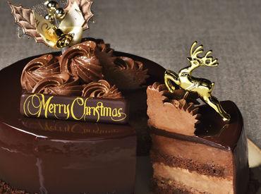 """【クリスマスケーキ販売】★* クリスマス限定 *★12/1~1/3♪*゜期間限定""""34日間""""!大人気のXmasケーキ販売◎《未経験OK!!》《高校生歓迎*》"""
