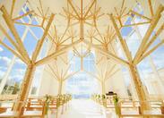全面ガラス張りの結婚式場+..+゜ ギター・バイオリン・ピアノなどでオシャレな雰囲気を演出します!