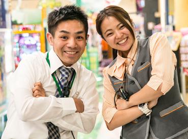 【ホールSTAFF】落ち着いた店内で女性も通いやすいお店♪<8割以上はパチンコ未経験で始めています!>18歳~20代のスタッフは半分程度!