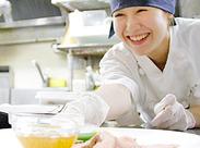 普段お料理をしない方もOK!まずはお皿を並べたりするところから始めて、ゆくゆくは調理もお願いします!
