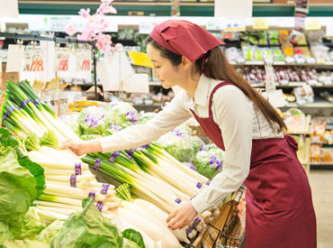\ピアゴで品出しSTAFF募集/ 扱う商品は野菜や果物、精肉類など、 スーパーで必ず目にする食材です◎ ※写真はイメージです。