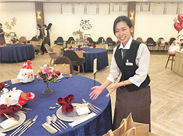 会場のセッティングや料理・ドリンクの提供などをお任せ♪ ブライダル関係が初めての方もお気軽にご応募ください☆