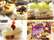 季節ごとに変わるケーキやレイアウト♪ワクワクしているお客さんにつられて楽しくなれちゃいます☆