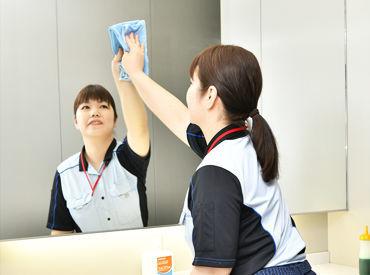 掃いたり、拭いたり。 「学校内の清掃」と言っても作業はシンプル♪ 未経験でも気兼ねなく始めていただけます★