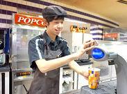 ≪売店≫ ポップコーンやドリンクの販売を行います◎軽食の調理はオーブンに入れてボタンを押すだけ♪とっても簡単ですよ☆