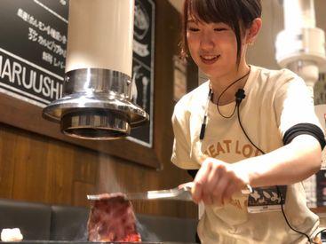 実は焼肉デートや女子会にも人気のお店★おしゃれなバルスタイルで、焼き肉店の中では珍しさ◎