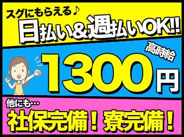 【製薬会社での検査業務】滋賀県甲賀市の製薬会社の検査♪日払いOKでしかも未経験でも1300円!女性活躍中のお仕事です☆