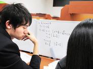 ≪1授業での生徒は、最大2名!≫ 生徒一人ひとりに寄り添った丁寧な指導ができるので、 やりがい抜群です!