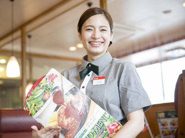 【レストランSTAFF】★☆ハンバーグ&ステーキレストラン Big Boy>>学生、主婦、フリーター皆さん大歓迎!未経験&ブランク安心な環境♪