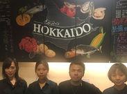 お店自慢のチョークアート★魚はもちろん、お酒も北海道から空輸しているこだわりある店なんです◎まかないも絶品♪