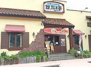 中華料理店ですが、カラフルなイタリアンレストランのような外観です!