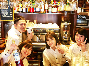 【Cafeスタッフ】~◆ 銀座のオシャレCAFE ◆~大人な落ち着いた雰囲気のお店で働ける◎興味があれば誰でもバリスタ技術が特技に!