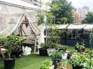 緑豊かでリラックスできるオフィスです♪花や植物が好きな仲間達と楽しく勤務できること間違いなし◎