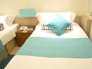 清掃する客室は、清潔感のあるとってもキレイなお部屋☆ 接客業務なし!未経験も大歓迎♪