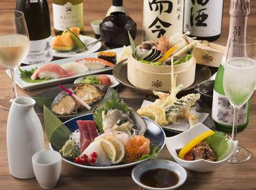 新鮮なお魚と本格焼酎・地酒が味わえる人気店で楽しく働こう♪* 今だけのオープニングスタッフ! 逃したら損ですよ★