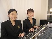 未経験の方から音楽系の学校に通っている方まで…♪ 幸せいっぱいの雰囲気の中楽しく活躍中★ 頑張り次第で正社員登用もあり!