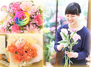 珍しいお花や可愛い雑貨を取り扱っている、フラワーショップ≪KARENDO≫♪ カラフルなお花に囲まれて、楽しく働けます!