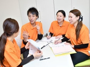たくさんの研修が、業務の一環で受けられうます。この機会にどんどん学んでください!