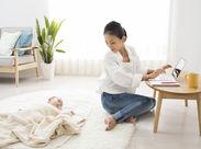 社員の8割は女性!【在宅ワーク・勤務時間自由】のメリットがあるから育児をしながらでも無理なく働けると好評です!