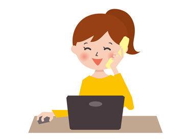 ◇◆ 人気のオフィスワーク ◆◇ 髪型・髪色&服装は自由◎ ネイル・ピアスなどのおしゃれもOK! シンプルなPC操作だから安心です!