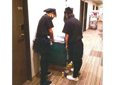 ★オープニングスタッフ募集中★ 2人1組となって清掃を行うので、 未経験の方も安心してスタートできます♪