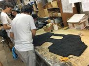 ↑カーペットをブラシで仕上げているところです◎ もくもく・コツコツと作業をするのが好きな方にオススメです!