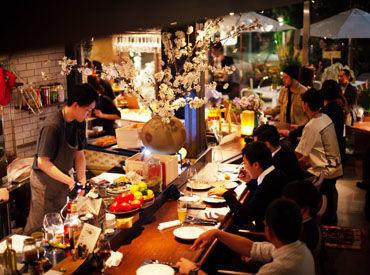 【店舗STAFF】有名シェフがプロデュース★@東京ミッドタウン日比谷*絶品&お洒落な料理が人気の秘密◎サクッと\3h~/空いた時間でOK♪