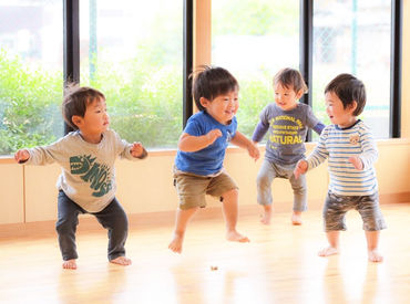 <定員17名>の保育園◎ 元気いっぱいな子ども達1人ひとりと ちゃんと向き合い、成長を見守れる♪ 毎日笑顔あふれる職場です◇*