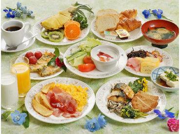朝食バイキングでのお仕事◎ お料理もドリンクも配膳する必要なし!!