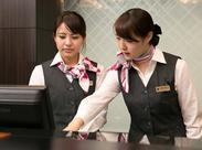 ホテルの顔となるフロントのオシゴトをお任せ♪ 最初は先輩スタッフがしっかりサポート! 就活に役立つマナーが身に付きます★