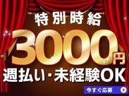 特別時給✩3日間 遅番時給3000円!!早番時給2000円!!