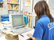 仕分けが一通り終わったら、オフィスで伝票の準備をします◎難しい操作はないので、PCが得意でない方も安心してくださいね!