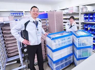 """【医療材料の補充】""""包帯が足りないので配達をお願いします""""⇒問い合わせのあった部署へGO!安心の病院内で未経験からはじめよう♪"""