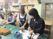 簡単な工具(ニッパーやペンチ)を使いモーターを組立て・製作…検査…細かい手元作業が好きな方にオススメ♪長く続くスタッフ多数