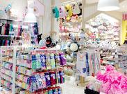 販売未経験から始めた方多数★ 女性に人気の雑貨店♪*:・゚ カワイイ物に囲まれてお仕事しよう!