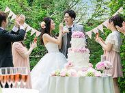 結婚式やその後2次会パーティーなどでHAPPYな瞬間を陰から支えるお仕事です!