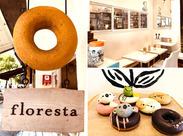 """カジュアルなオシャレ店☆""""フロレスタならではのメニューがいっぱい♪ どれもかわいくて、自然とHappyな気持ちに*゜"""