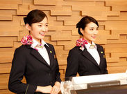 まずは笑顔でご挨拶♪マナーや心配りもできるようになる!ホテルの顔として勤務しよう!