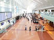 関西と全国、関西と世界を繋ぐ『関西空港』でのお仕事◎ 簡単ですがやりがいはたっぷり! ※イメージ
