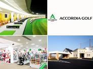 施設内にはゴルフのグッズショップも併設しています♪ もしお気に入りの商品があれば社割でお得にGETできます!