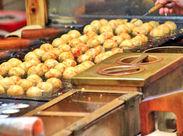 イベント会場にて、たこ焼きや焼きそばの販売&調理のお仕事です♪イベントを盛り上げよう☆彡