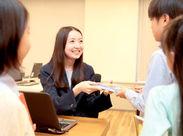 充実の研修で電話対応、ビジネスマナーを基礎から教えます◎事務未経験の方も安心してご応募ください♪
