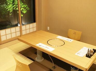 掘りごたつのお部屋やお座敷…京都ならではのおもてなし溢れるお店です◎