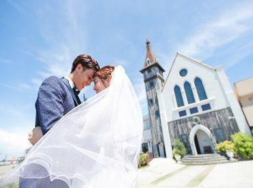 【幸せなWeddingのお手伝い&Cafe♪】【海が見える結婚式場、Cafeで働きませんか?】